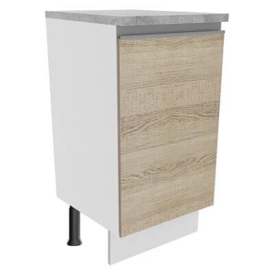 Balcão Madesa Glamy 40 cm 1 Porta Branco/Saara