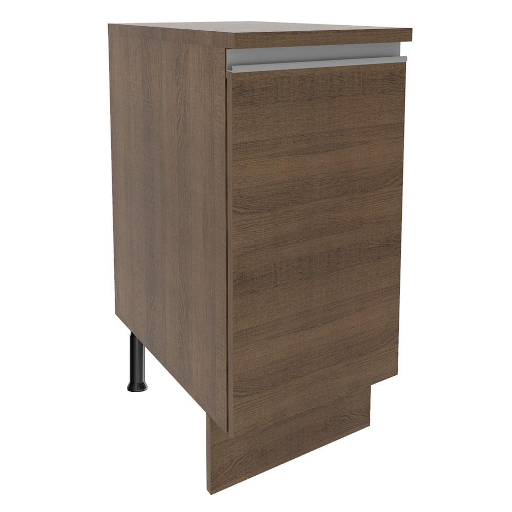 Balcão Madesa Glamy 35 x 60 cm 1 Porta (Com Tampo) Rustic