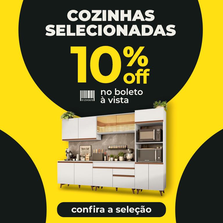 10% OFF BOLETO COZNHAS SELEC