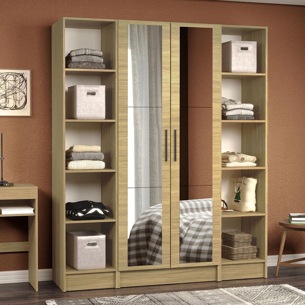 01-MDNI16000375-ambientado-guarda-roupa-modulado-madesa-nilo-160003-com-espelhos-3-pecas